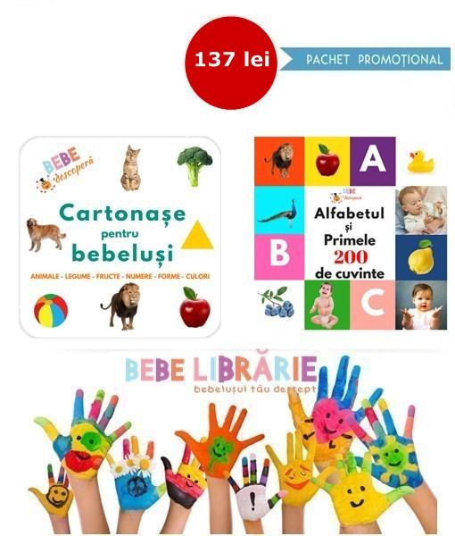 cartonase pentru bebelusi, alfabetul si peste 200 de cuvinte