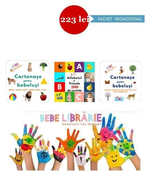 bebe descopera cartonase pentru bebelusi - pachet promotional