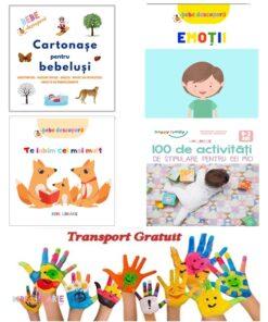Carti cartonate pentru bebelusi si 100 de activitati - 0-3 ani