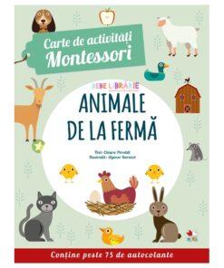 carte de activitati montessori. animale de la ferma