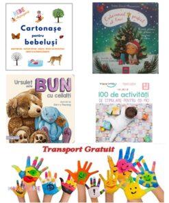 Carti cartonate si 100 de activitati pentru bebelusi 0-3 ani